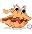 Pearl shell shocked expression vector image