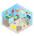 teenager room interior isometric vector image
