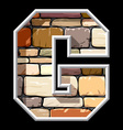 stone letter G vector image vector image