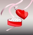 white pearls in the red box vector image vector image