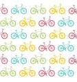 Bike Seamless Pattern White vector image vector image