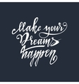 Hand lettering typography poster vector image