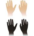 Woman man hands vector image vector image