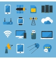 Wireless Technology Flat Icons Set vector image