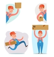 Cargo Freight Box Loading Delivery Shipment Loader vector image