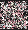 contrast seamless pattern with stylish leaves on vector image