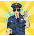 Cool Policeman Serious Police Officer Pop Art vector image