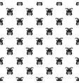 Japanese samurai mask pattern simple style vector image