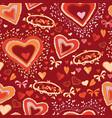 love cute heart seamless pattern vector image
