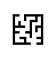 Maze Icon Flat vector image