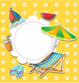 A stationery with things found at the beach vector image