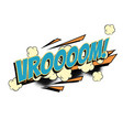 vroom comic word vector image