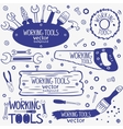 working tools set vector image