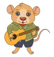 cartoon mouse musician vector image vector image