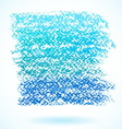 Blue pastel crayon spot isolated on white vector image vector image