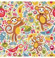 monkey jungle vector image vector image