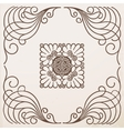 vintage border frame with ornament vector image