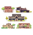 Private residential cottage houses flat vector image