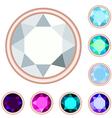 circle gemstone set vector image