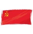 Grunge Soviet Union flag vector image