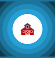 isolated greenhouse flat icon storehouse vector image