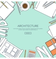 lined Flat architectural vector image
