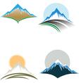 Mountain tops vector image