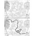 Rainforest maze vector image