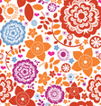 seamless flower paradise vector image