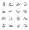 Set of 16 social network icons includes business vector image