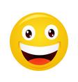 Yellow emoticon cartoon character vector image vector image
