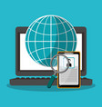 business and network design vector image