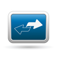 renew icon on blue vector image vector image