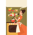 home made cooking vector image