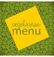Vegetarian Menu Template vector image vector image