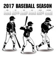2017 baseball season artwork vector image