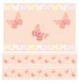 Pink butterflies seamless pattern vector image vector image