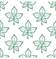 Green leaves square seamless pattern vector image