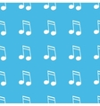 Sixteenth note straight pattern vector image