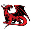red dragon mascot vector image vector image