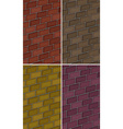 Brick wall in four colors vector image