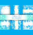 christmas backgrounds with snowflakes vector image