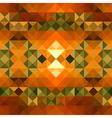 Fall season triangle seamless pattern background vector image
