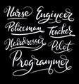 programmer and engineer hand written typography vector image