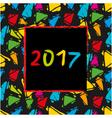 Spanish Calendar 2017 template vector image