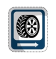 traffic signal car tire location vector image
