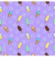 Ice cream lilac textile print food seamless vector image