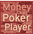 pokermoney text background wordcloud concept vector image