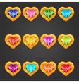 Big set with gem heart vector image
