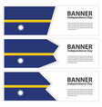 nauru flag banners collection independence day vector image